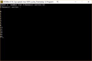 Fibonacci Series In C++ Programming