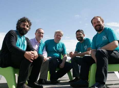 Arduino developer team - David Cuartielles, Gianluca Martino, Tom Igoe, David Mellis, and Massimo Banzi.
