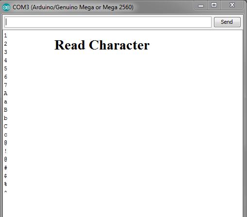 Read Alphanumeric values by arduino