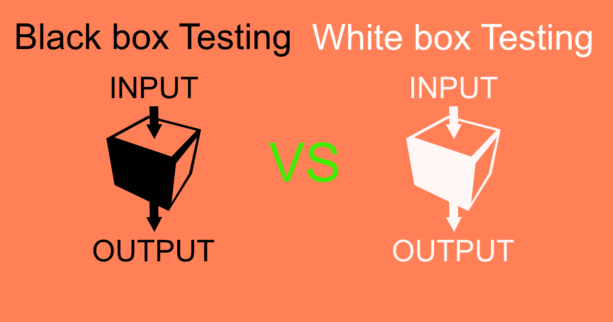 Black box Testing & White box Testing