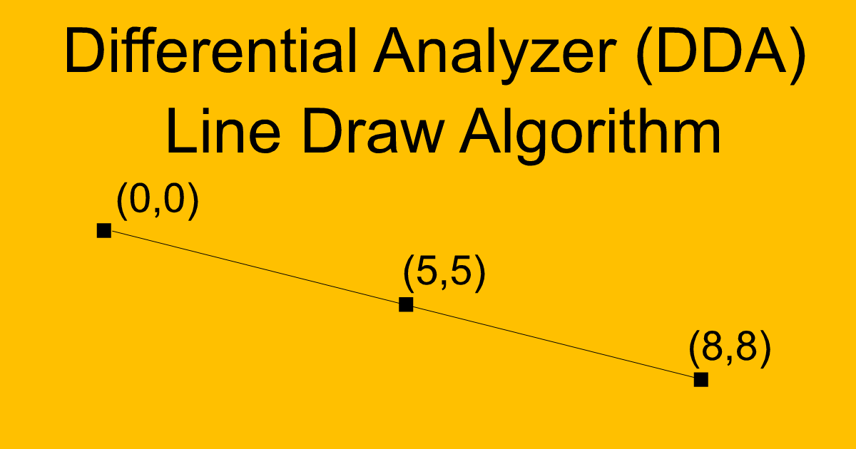 Differential Analyzer (DDA) Line Draw – AHIRLABS