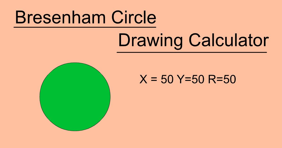 Bresenham Circle Drawing Calculator