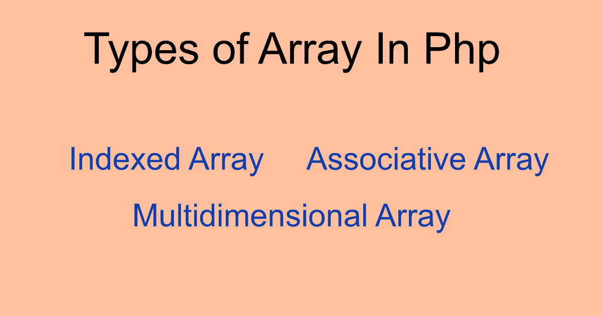 Types of Array In Php