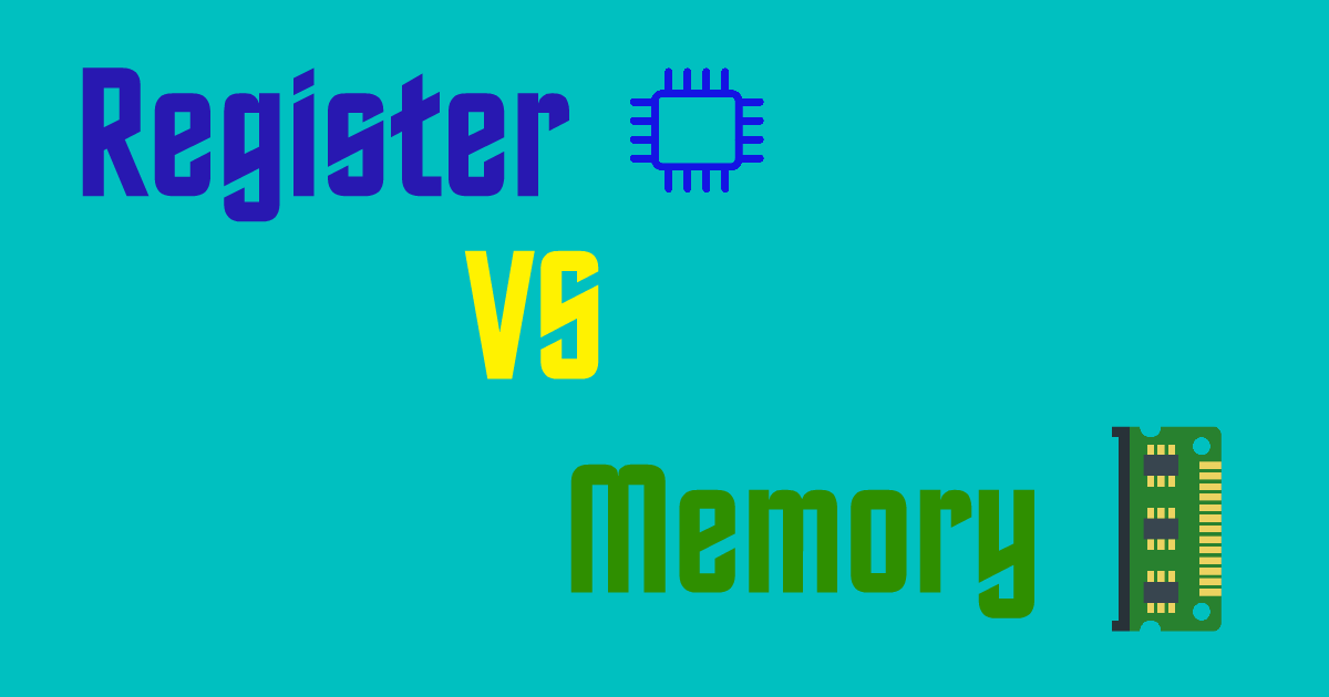 Difference Between Register And Memory