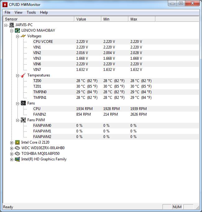 HWMonitor-Screenshot