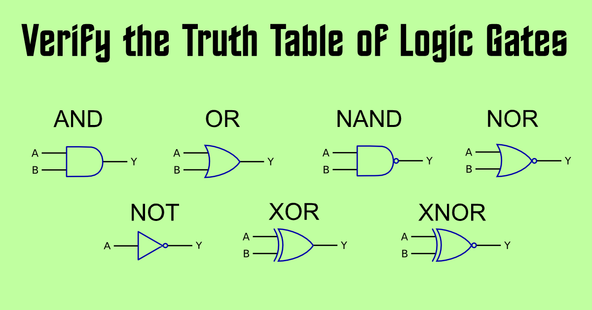 To Study and Verify the Truth Table of Logic Gates.