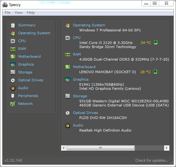 speccy-Screenshot