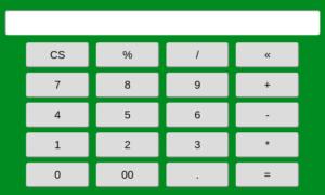 Calculator Program in Html Using Javascript Code